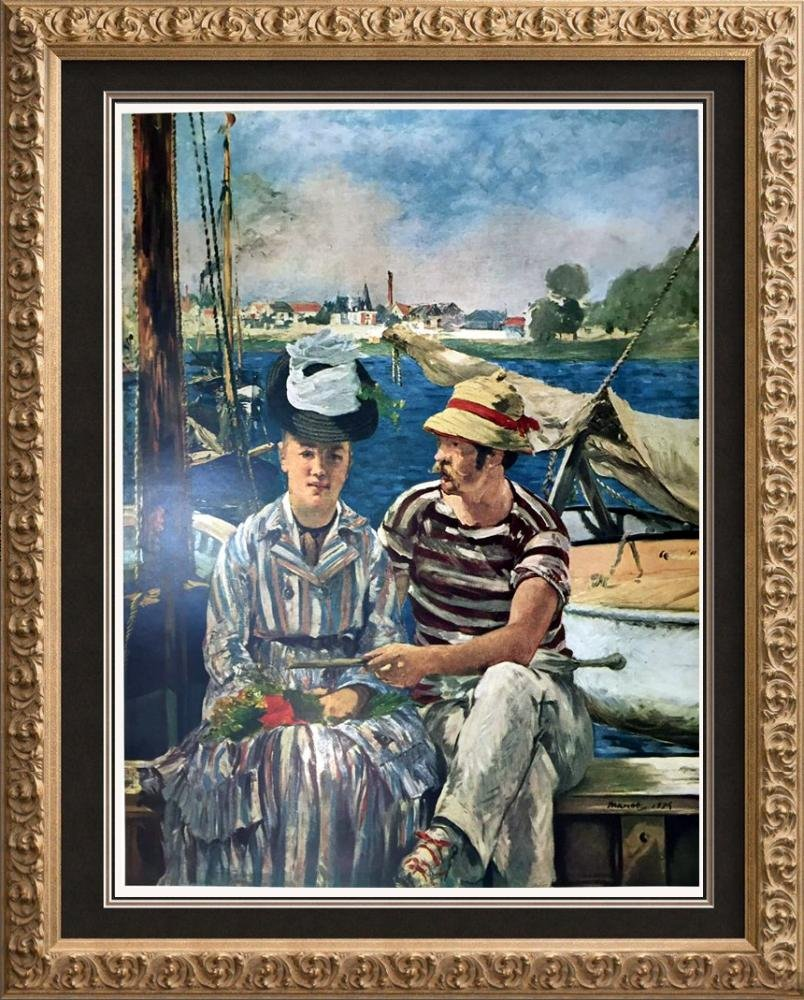 Edouard Manet Boating at Argenteuil c.1874 Fine Art