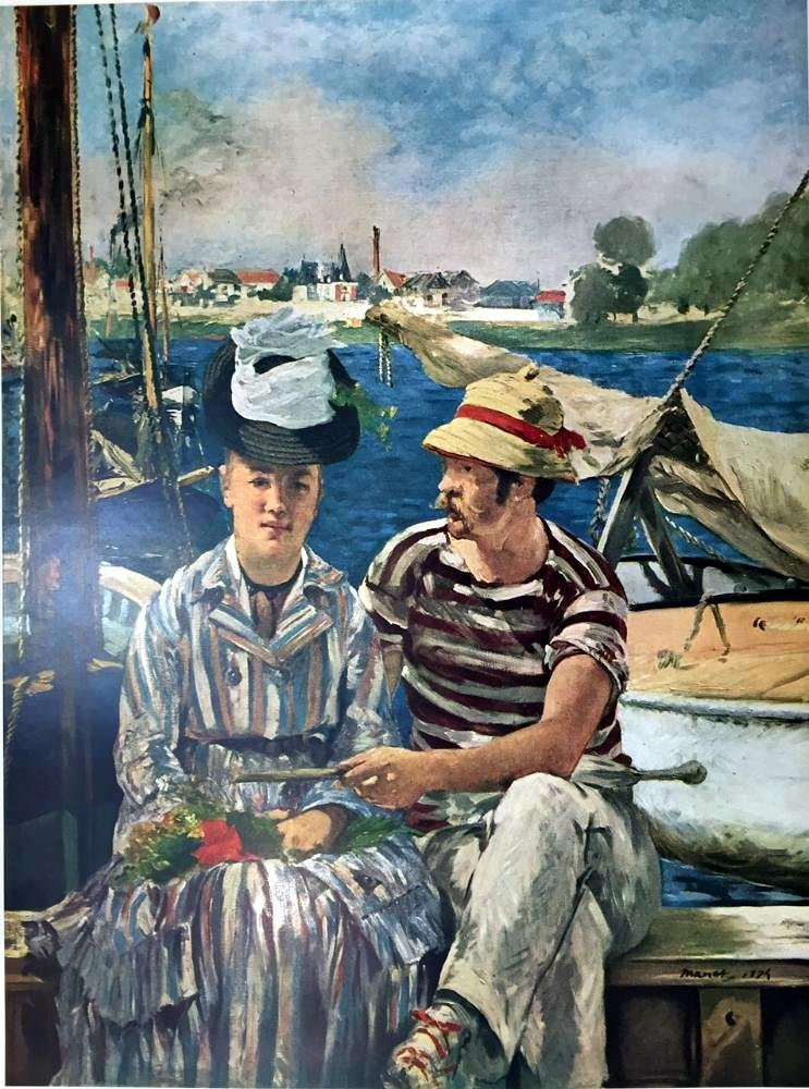 Edouard Manet Boating at Argenteuil c.1874 Fine Art - 2