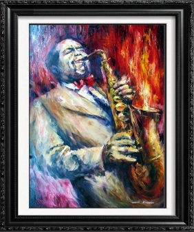 Charlie Parker Sax Player Abstract Original Painting On