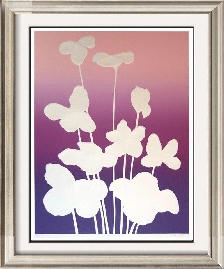 Abstract Flowers Purple Violet Textured Ltd Ed Sale