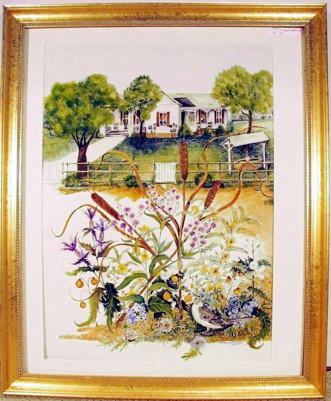 Berger President Johnson's House Original Art Only $50