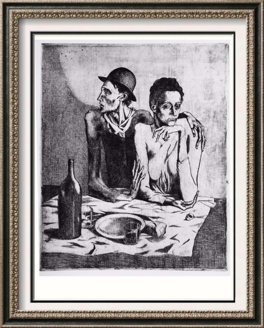 Pablo Picasso 'After' The Frugal Repast c. 1904 Fine