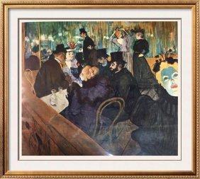 Toulouse-lautrec At The Moulin Rouge C.1892 Fine Art