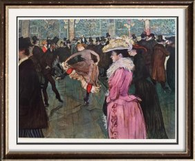 Toulouse-lautrec At The Moulin Rouge, The Dance C. 1890