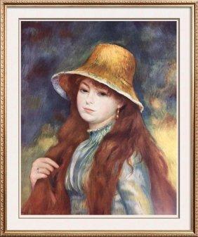 Pierre Auguste Renoir Girl With A Straw Hat C.1884 Fine