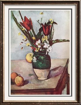 Paul Cezanne Tulips And Apples C.1890-94 Fine Art Print