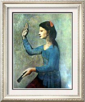 Pablo Picasso Woman With A Fan C.1905 Fine Art Print