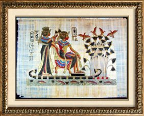 Original Egyptian Large 25x36 Papyrus Painting