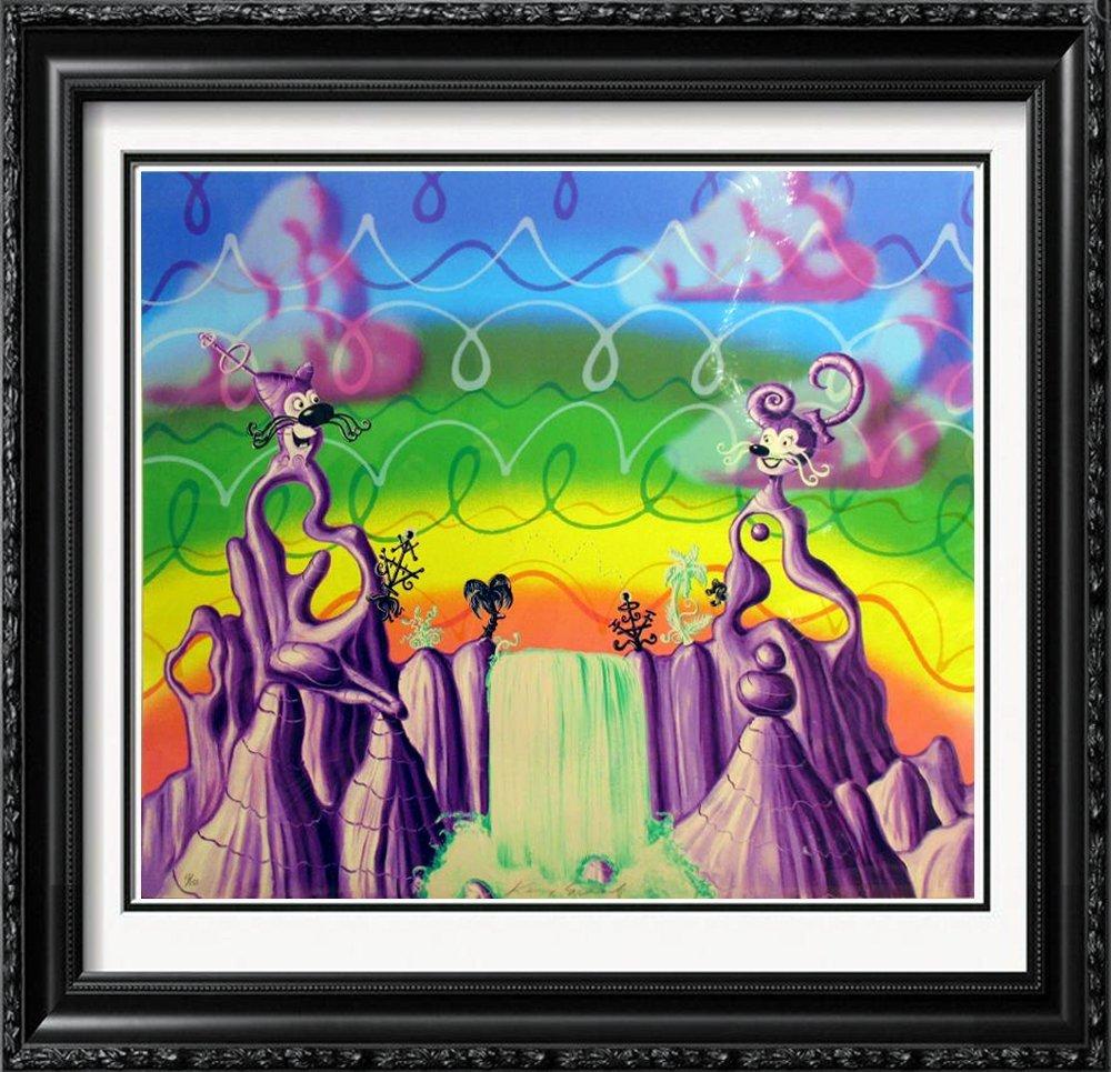 Kenny Scharf Rare Jade Pea Pod Pop Signed Ltd Ed
