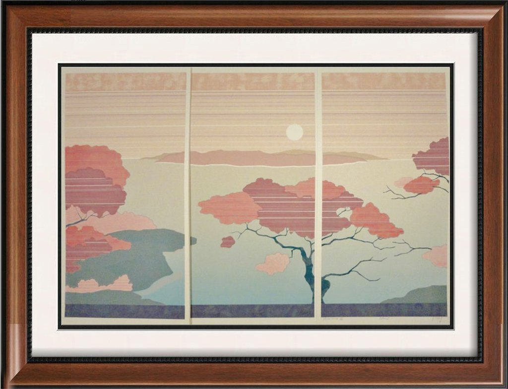 THREE Piece Abstract Suite Desert Scene Colorful Signed