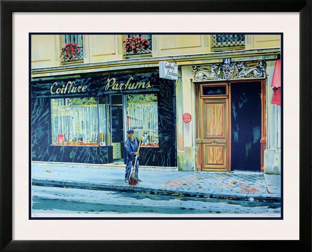 Paris Street Cleaner Landscape Colorful Signed Ltd Ed