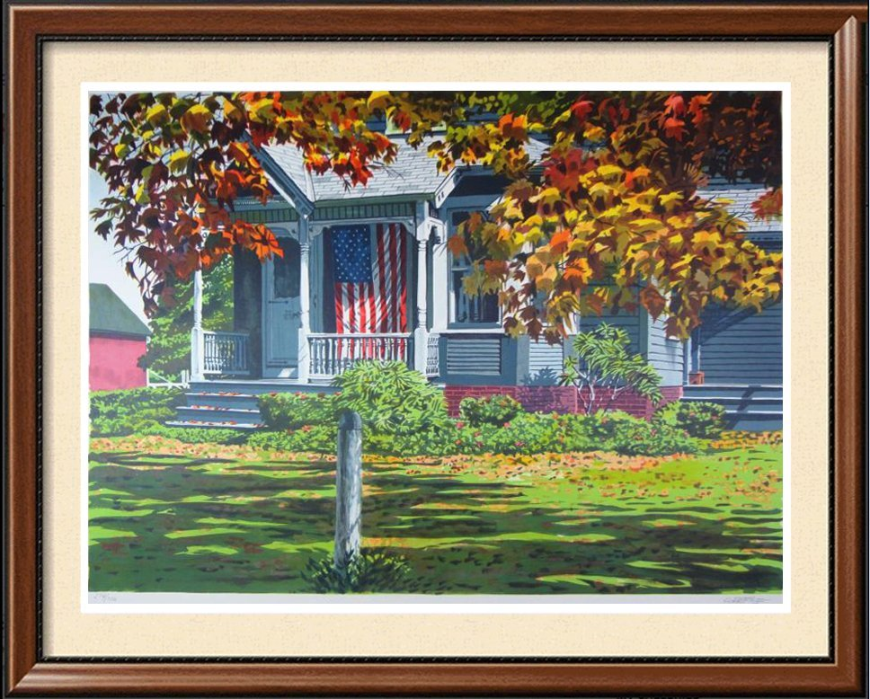 American Flag Realistic Limited Edition Colorful Art