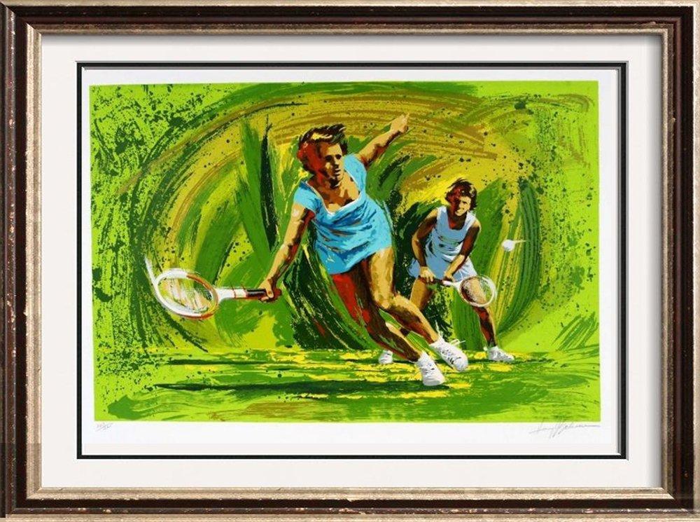 Tennis Doubles Limited Edition Art Sale Dealer