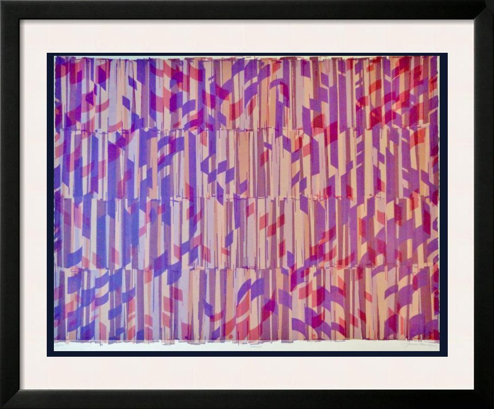 Huge Rare Abstract Vasarely-Style Signed Ltd Ed Sale