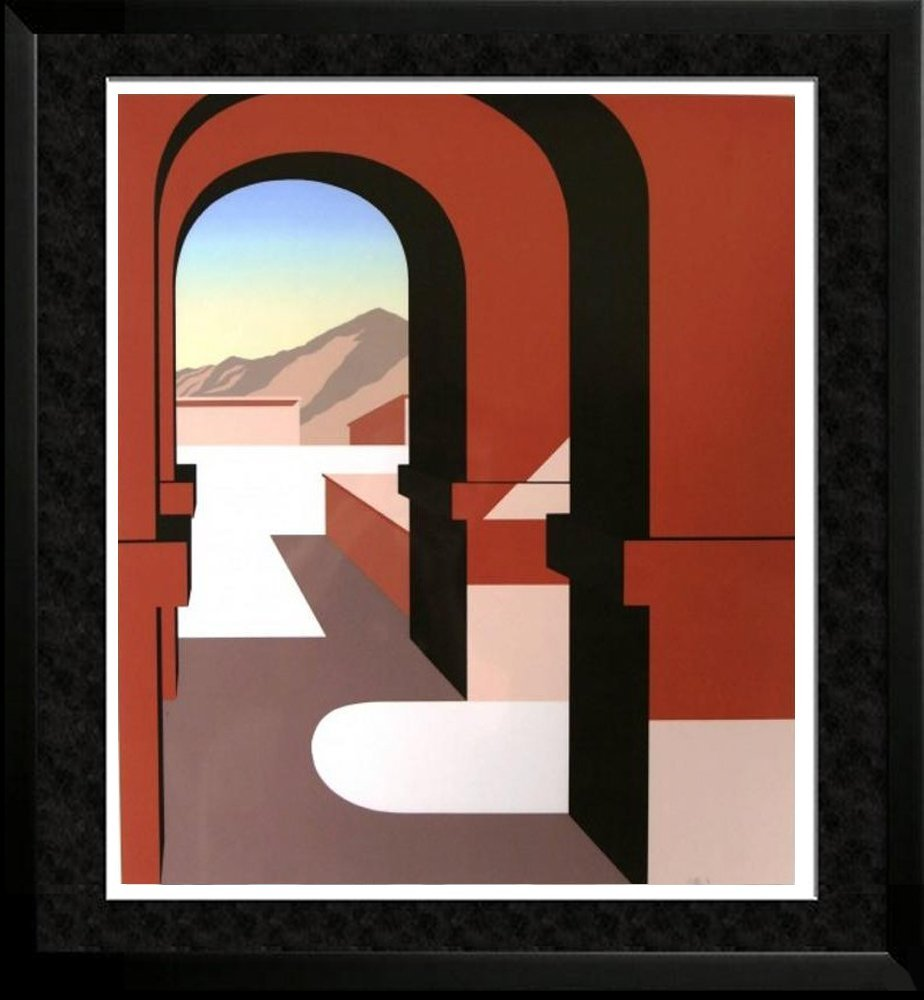 Art Deco Abstract Architectural Stylized Ltd Ed
