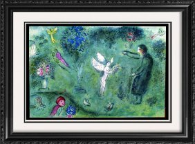 """Best Chagall """"after"""" Deal Colored Lithograph Great"""