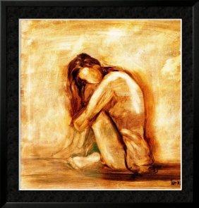 Dealer Erotic Sale Earth Tone Nude Figurative Canvas