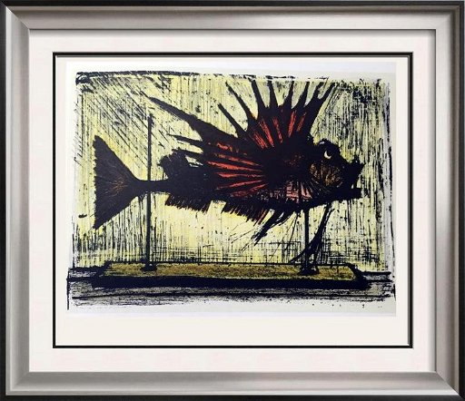 Strange Bernard Buffet Hog Fish Full Color Print Executed In Jun Home Interior And Landscaping Palasignezvosmurscom