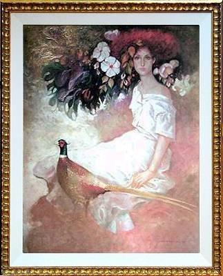 102D: Peacock Mas Ltd Ed Hand Signed Ltd Ed
