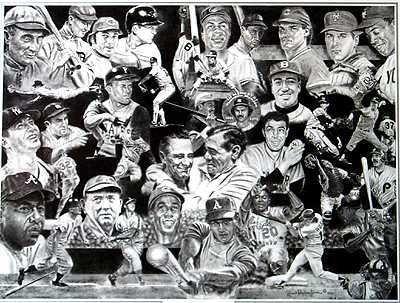 104D: Baseball Black White Limited Edition Liquidation