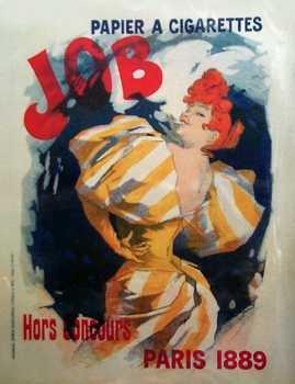 537D: Cheret Paris 1889 Job Cigarettes Fine Art Poster