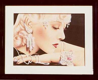 607D: Art Deco Lady Hand Signed Estate Liquidation Sale
