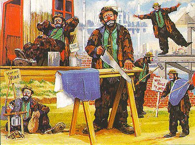 1563D: Clowns at Work Leighton Ltd Ed $700 Value