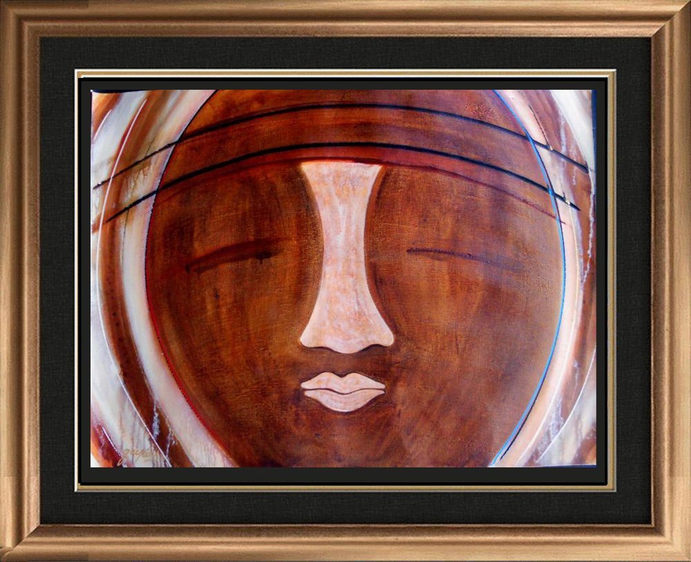Earth Tone Beautiful Picasso Style Modern Abstract