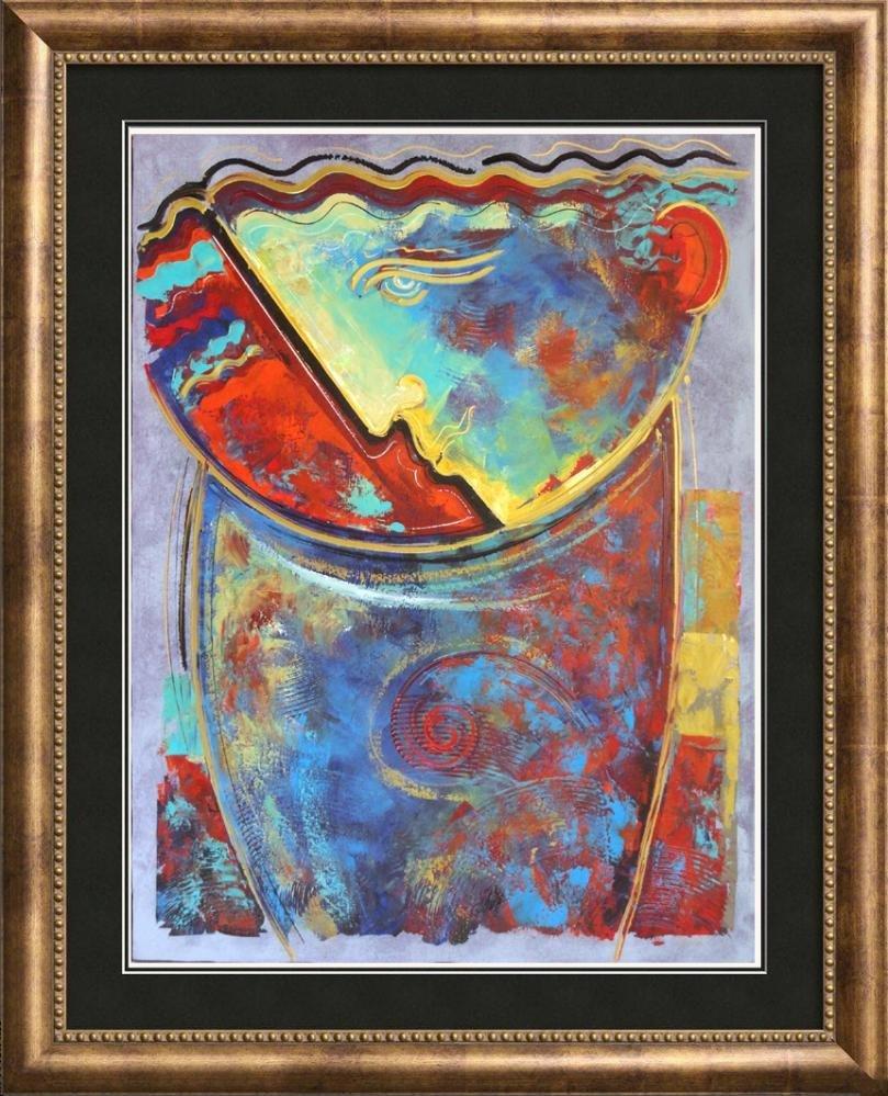 Fantastic Colorful Lagre 40x30 Original Signed Painting