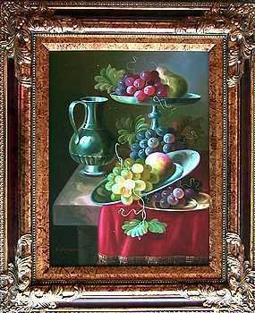 5027E: Table with Fruit Realistic Painting Must See
