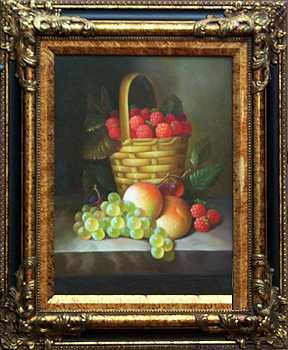 5030E: Basket with Fruit Lovely Realistic Painting