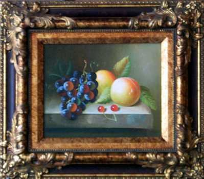 5099E: Peaches & Grapes Kitchen Painting on Canvas