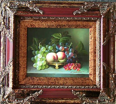 5113E: Still Life Framed Original Painting on Canvas