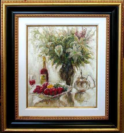 8824E: Large Canvas Wine with Floral Fantastic Value