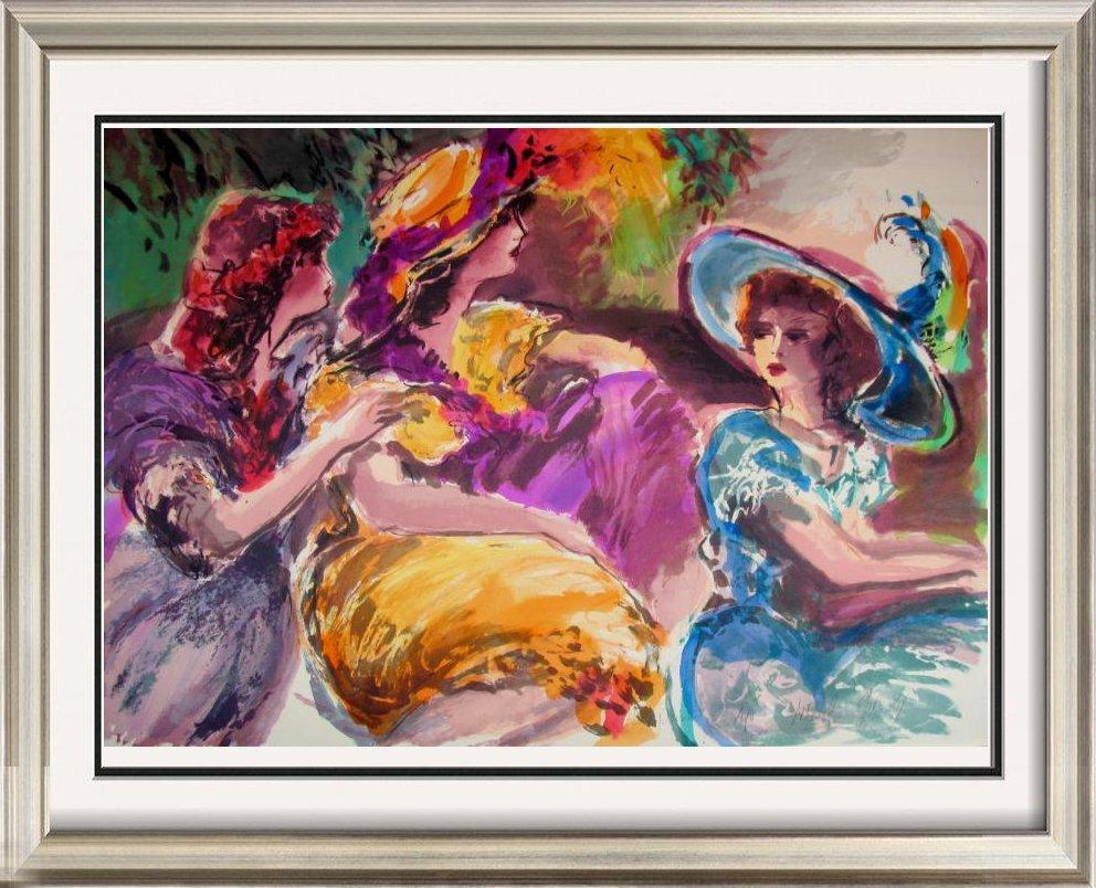 Huge 3 Women Maimon-Tarkay-Style Ltd Ed Signed Flantz