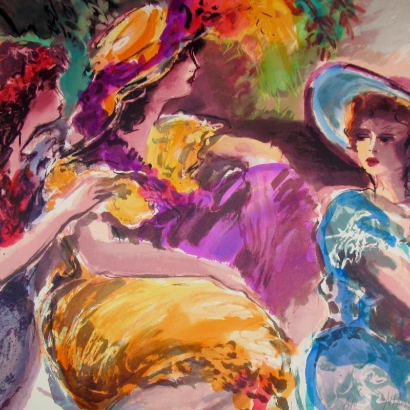 Huge 3 Women Maimon-Tarkay-Style Ltd Ed Signed Flantz - 3