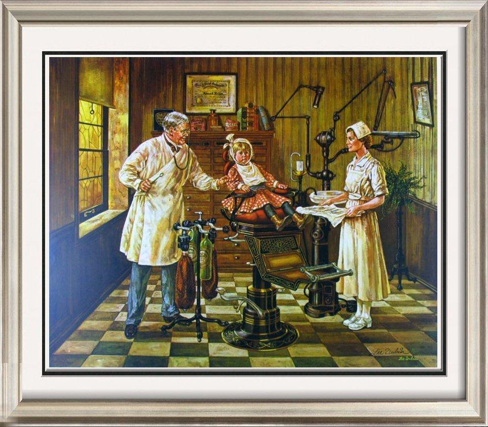 Dentist's Office Rare Dubin Original Collotype Ltd Ed