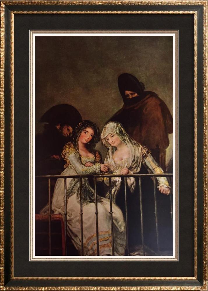 Francisco Jose de Goya y Lucientes Majas on a Balcony