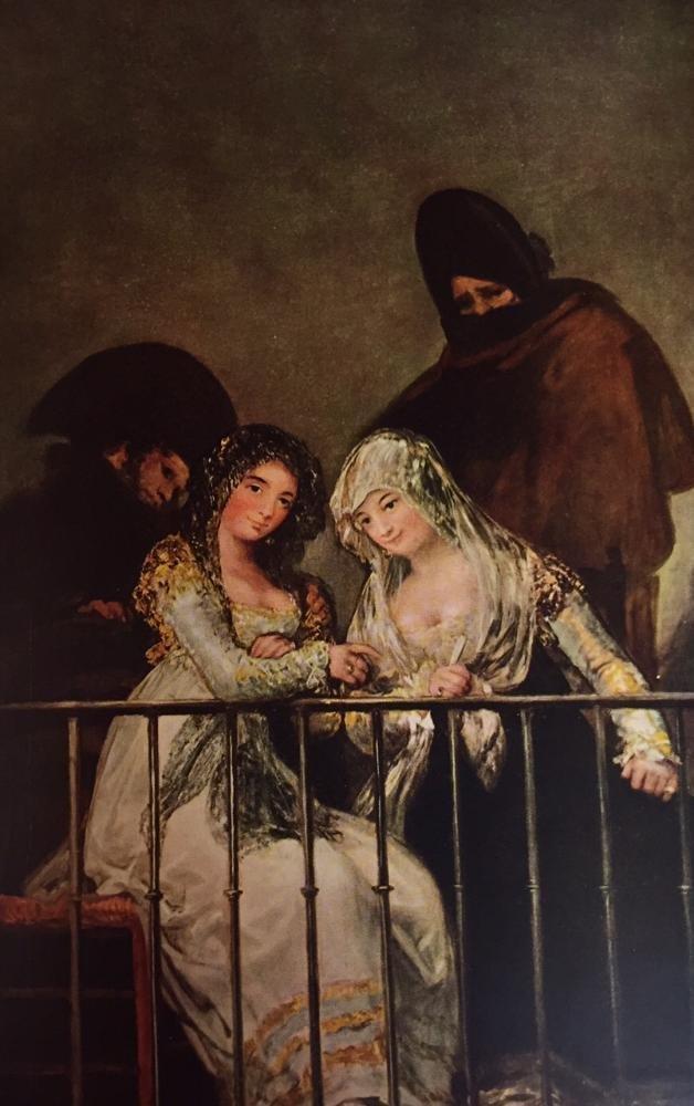 Francisco Jose de Goya y Lucientes Majas on a Balcony - 2