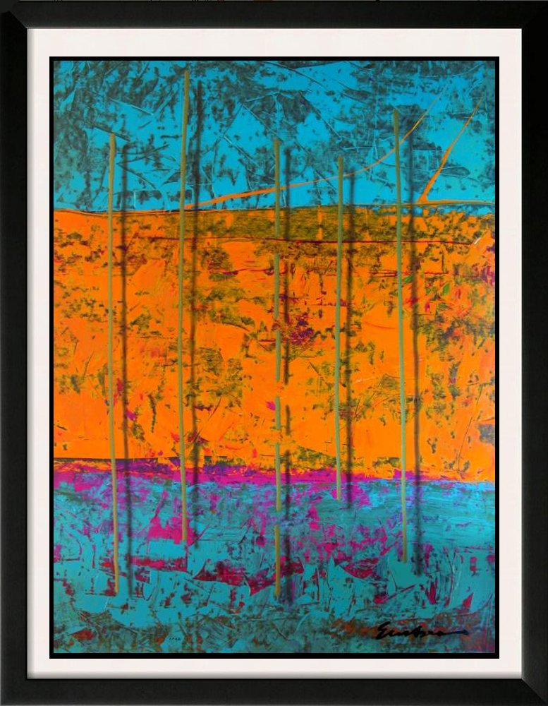 Huge Abstract Serigraph Modern Contemporary Colorful