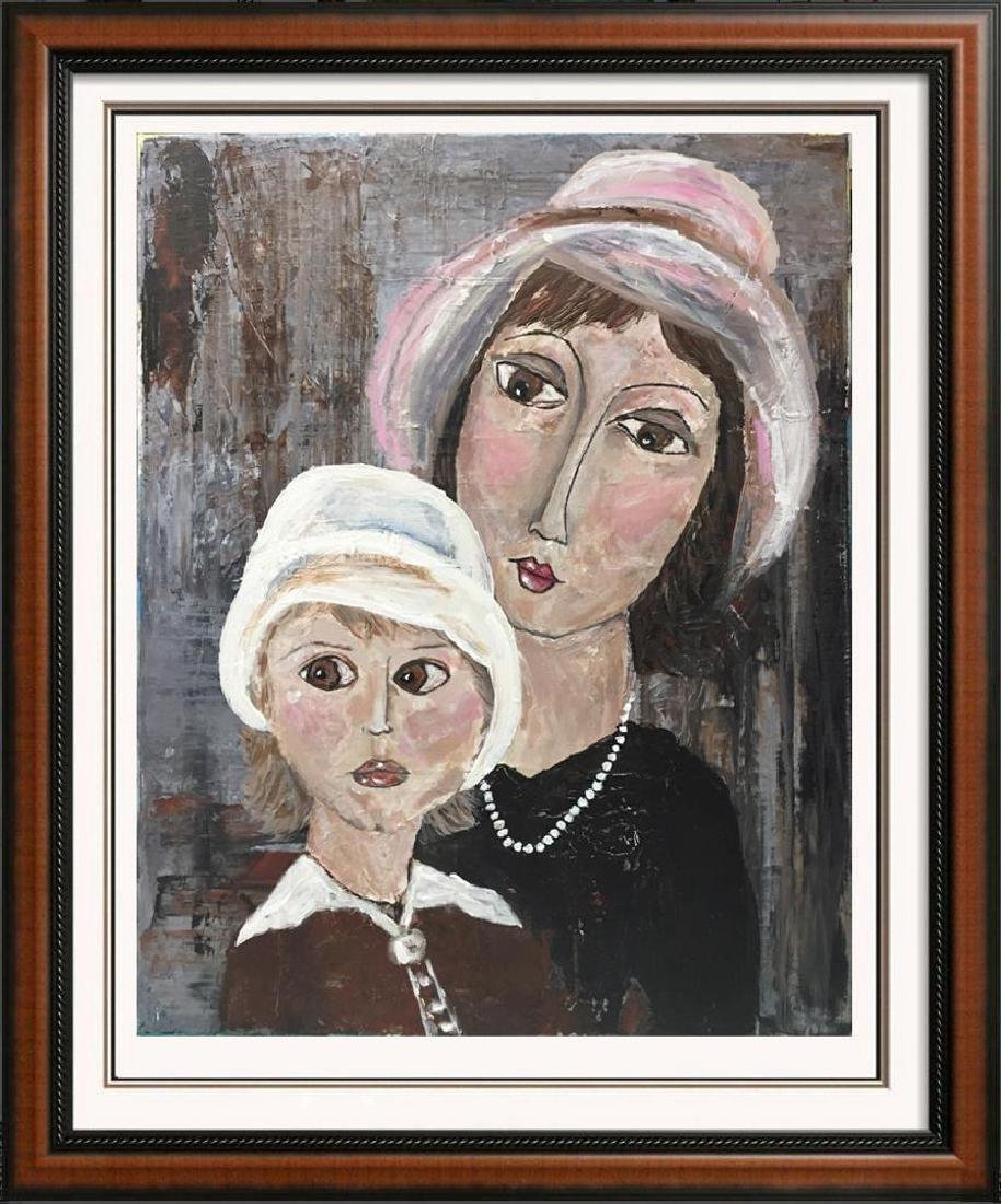 Mother and Child Original Acrylic Palette Knife