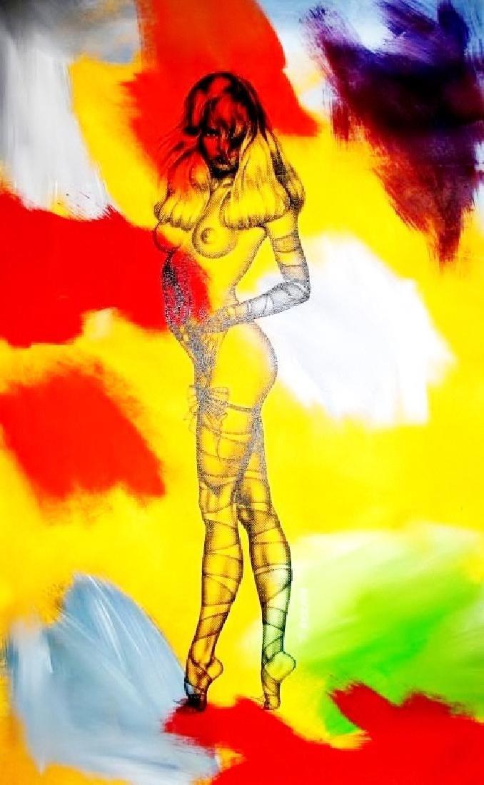 Canvas Pop Art Painting On Canvas Original Art