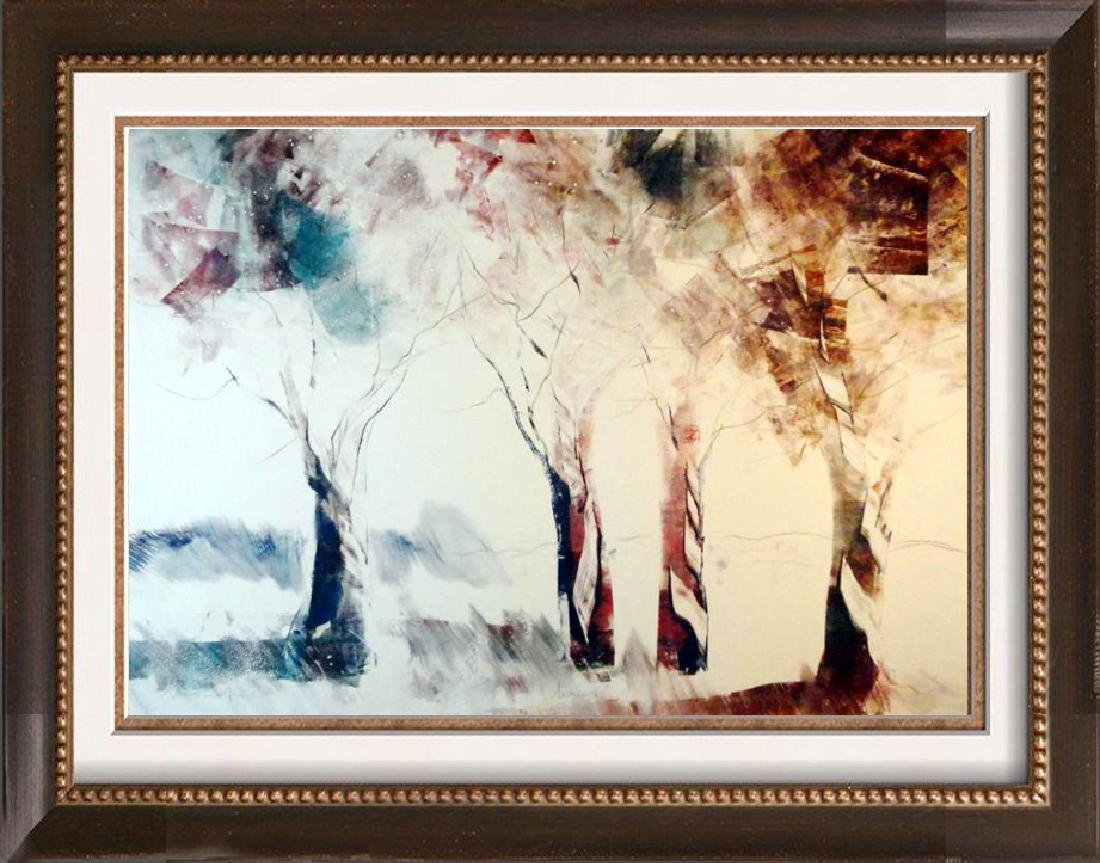 Acrylic Painting on Paper Fantastic Abstract Trees