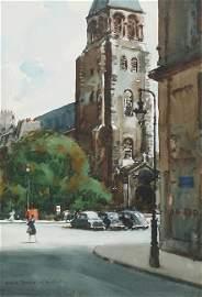 St. Germain des Pres, Paris by Donald Teague