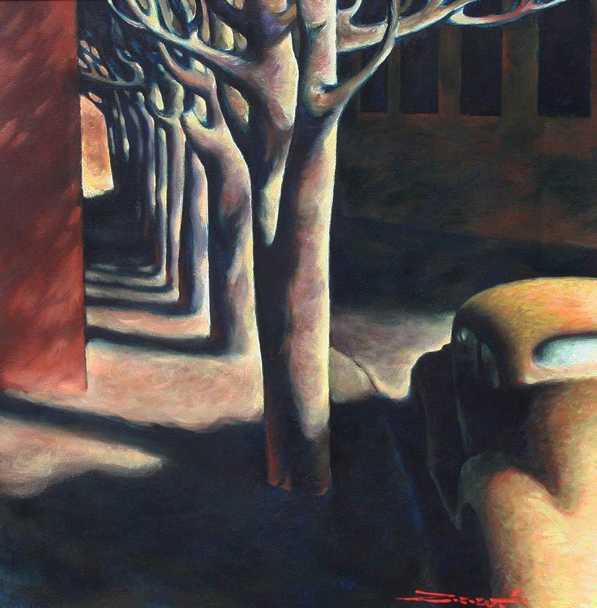 Boulevard Shadows by Z.Z. Wei (b. 1957)
