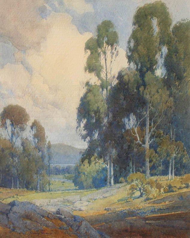 Marin Landscape w/ Eucalypti by Percy Gray (1869-1952)