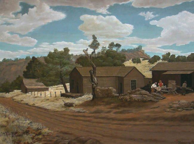 Homestead, Cherokee, CA by Manuel Tolegian (1911-1983)