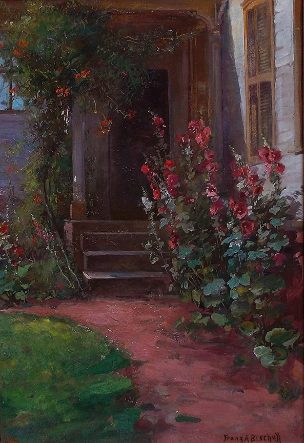 The Front Porch by Franz Bischoff (1864-1929)