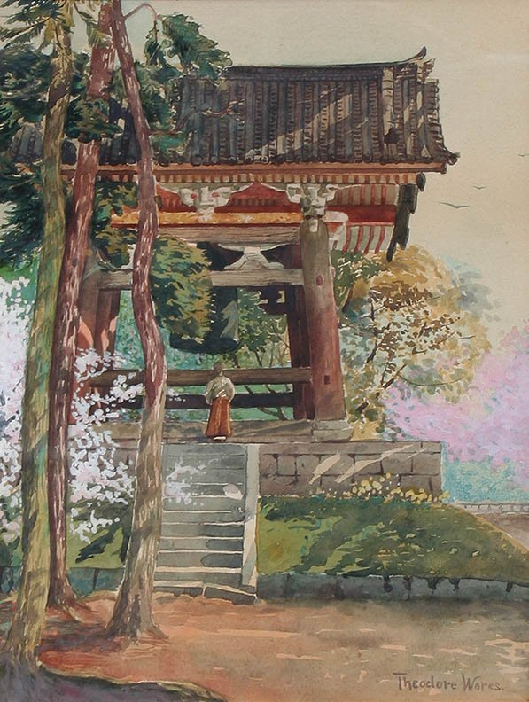 Temple Bell, Japan by Theodore Wores (1859-1939)