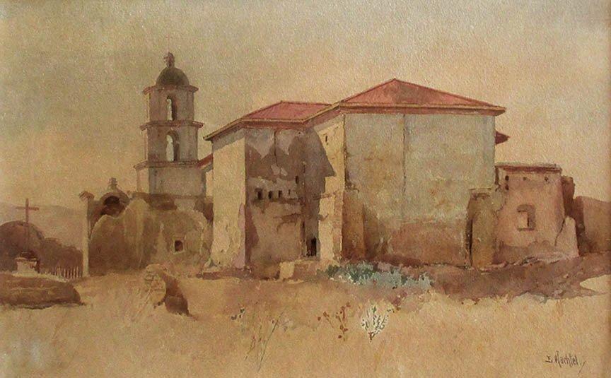 Mission San Luis de Francia by Elmer Wachtel